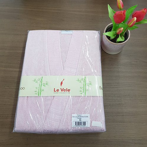 Le Vele Bamboo Pink Bathrobe