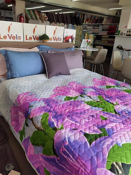 Покривка за легло с големи цветя