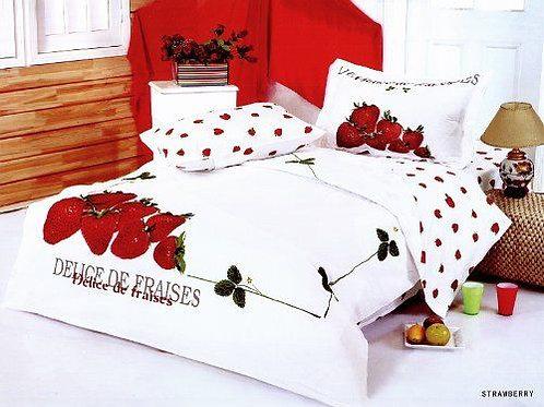 Спален комплект памучен сатен STRAWBERRY