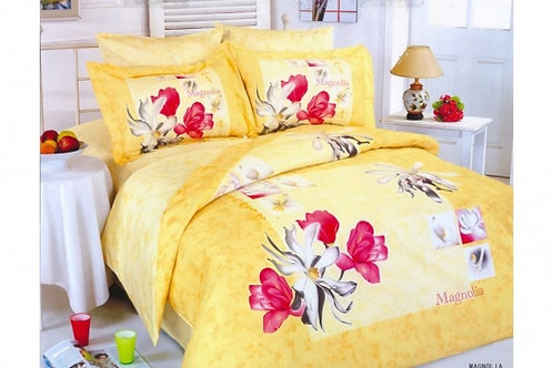 Спален комплект памучен сатен MAGNOLIA