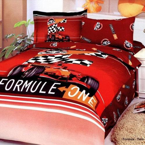 Спален комплект памучен сатен FORMULA-RED