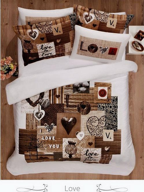 Cпален  комплект памучен сатен/Le Vele Spring series LOVE