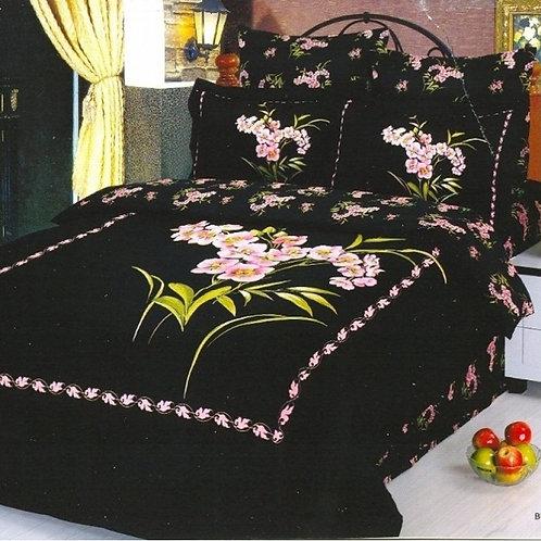 Спален комплект памучен сатен BUCKET BLACK