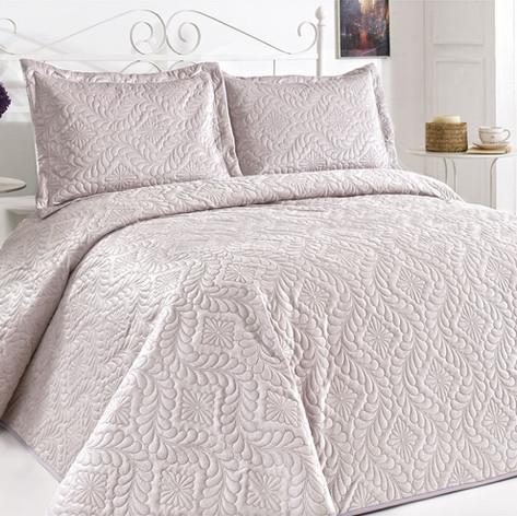 Velour Bedspread Set Lila