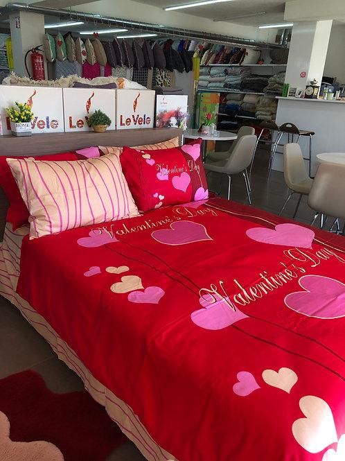 Спален комплект памучен сатен LOVERS