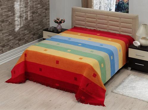 Cotton Royal Stripes RAINBOW-ORANGE одеало