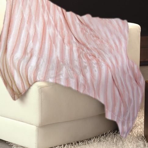 Imitation Fur Bedspread Pink WJ-10