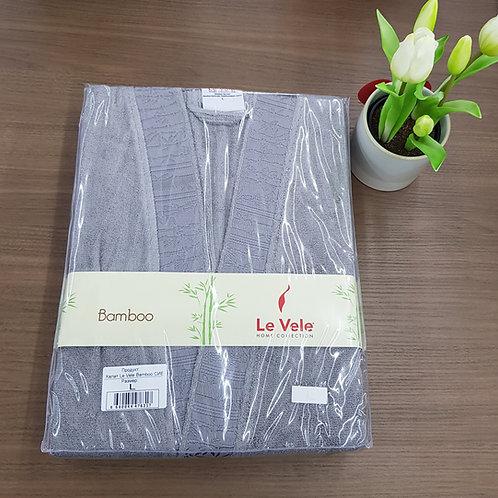 Le Vele Bamboo Gray Bathrobe