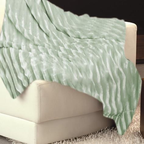 Imitation Fur Bedspread Green WJ-10