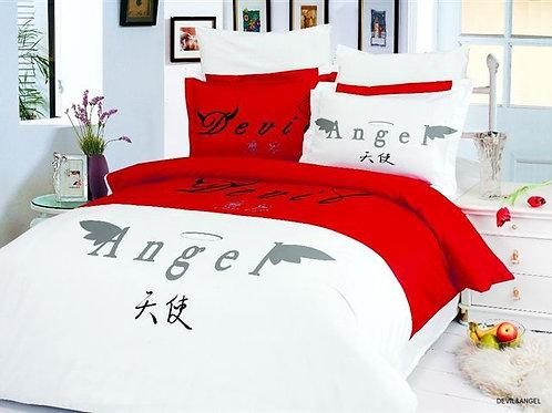 Спален комплект памучен сатен DEVIL&ANGEL