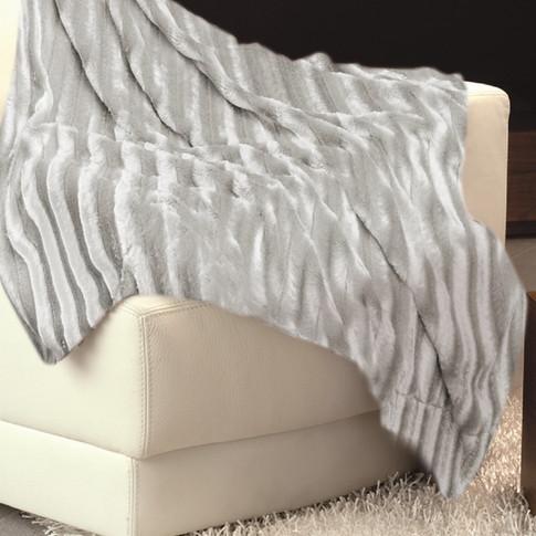 Imitation Fur Bedspread Grey WJ-10