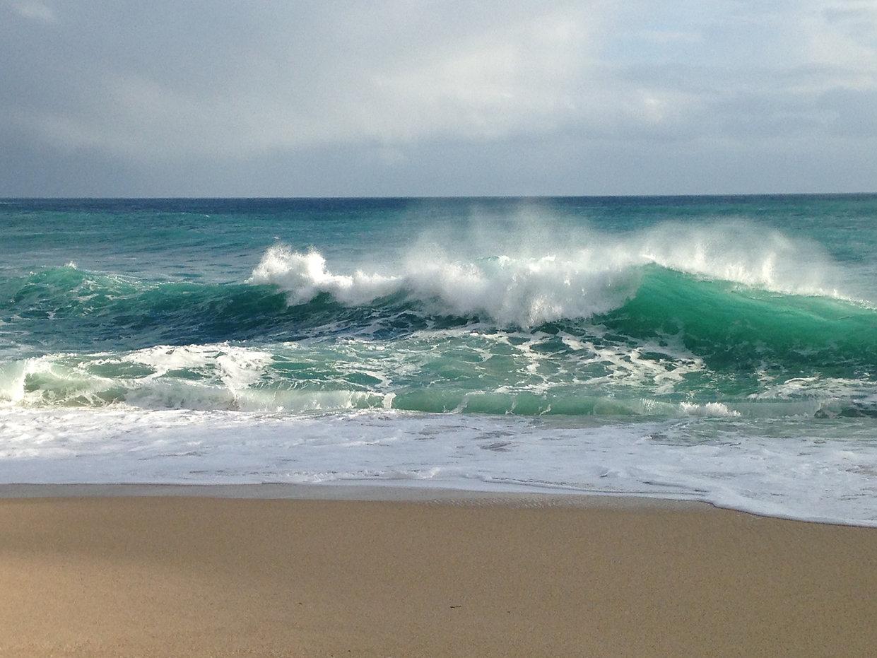 Porthcurno waves