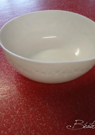 Bol porcelaine gravée