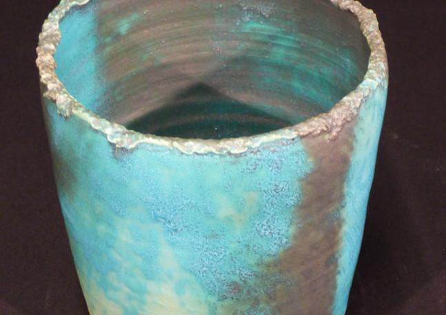 Vase bleu grès