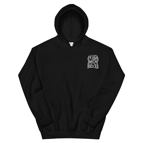 Raw With Love Embroidered Unisex Hoodie