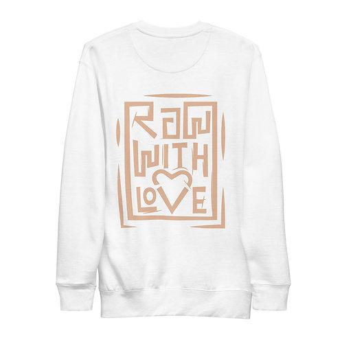 Raw With Love Unisex Fleece Pullover