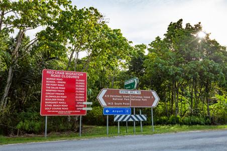 Red crab Road Closures