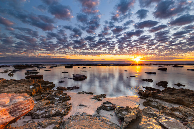 Back Beach Sunset