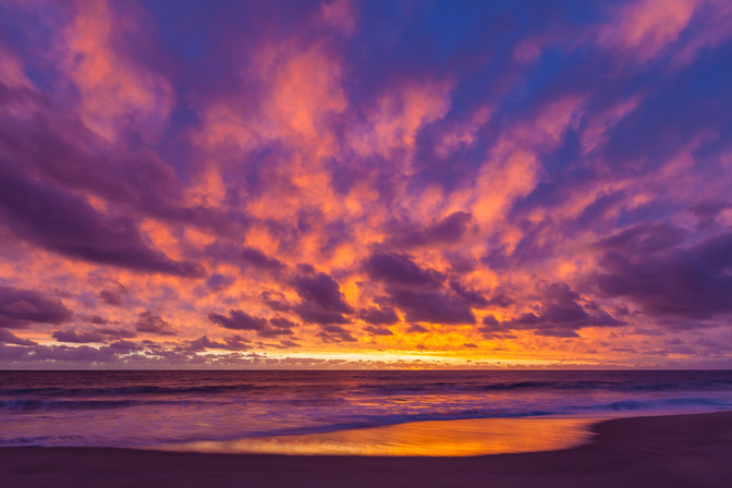 Fiery Beach Sunset