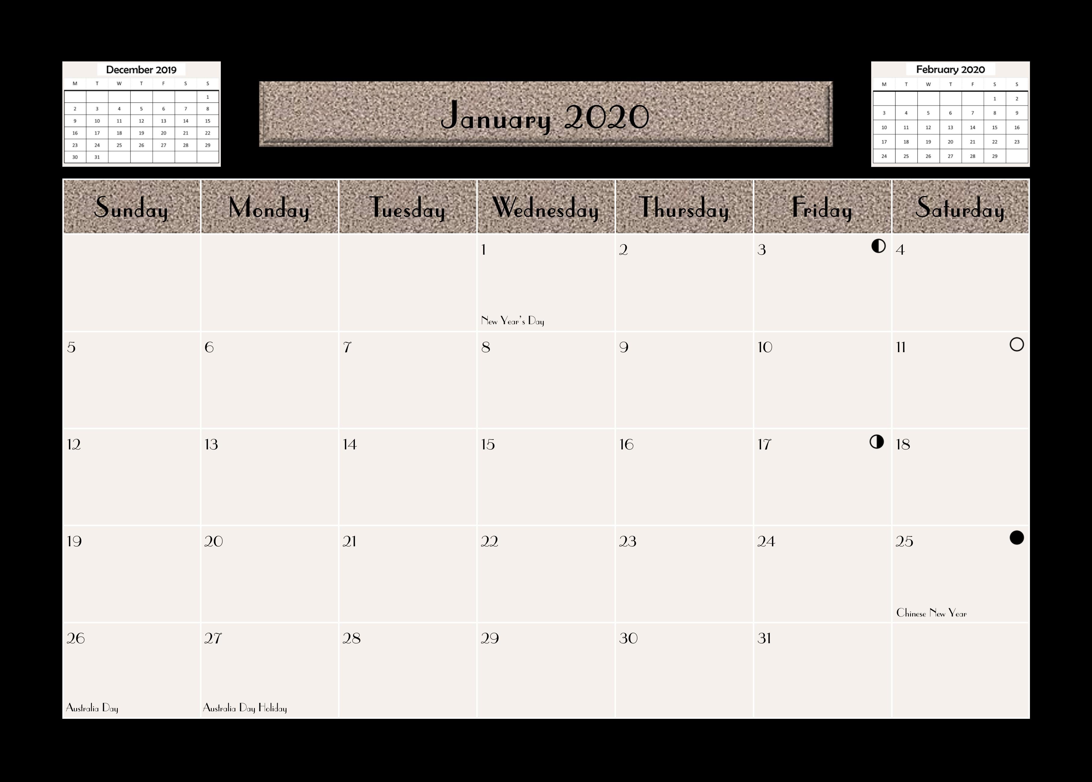 KB Calendar 2020-01a