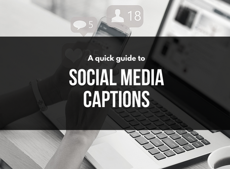 A quick guide to writing social captions