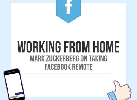 Mark Zuckerberg on taking Facebook remote
