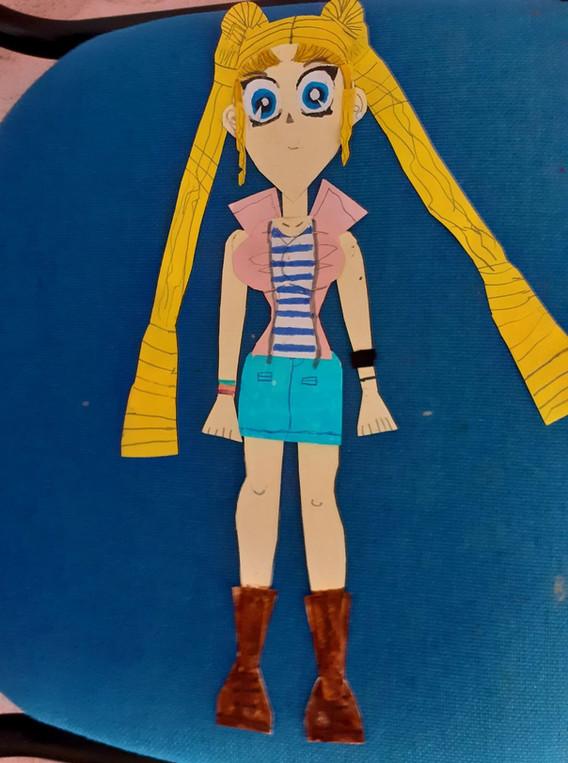 Cartoon χαρακτήρας από χαρτόνι