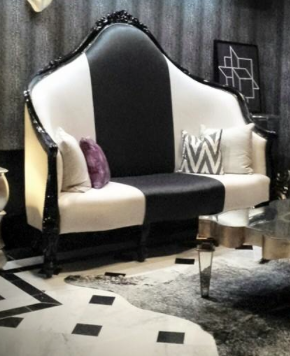Oversize custom designed Settee for our Fort Lauderdale Project