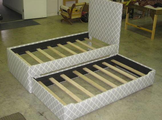 Custom trundle bed for NJ residence