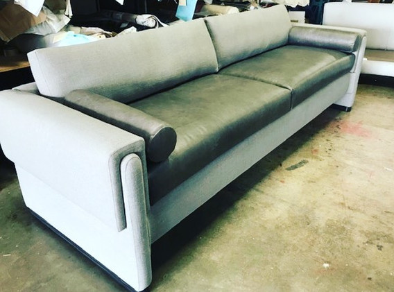 Gorgeous custom sofa for our LA project!