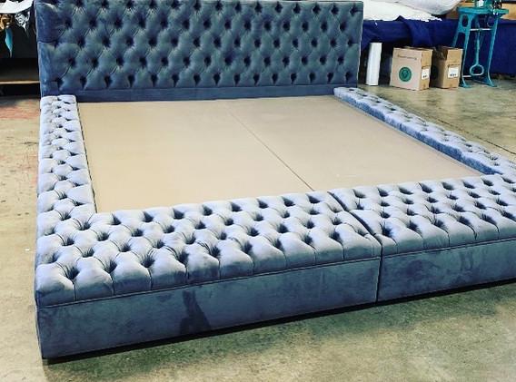 Custom king platform bed for our LA Project.