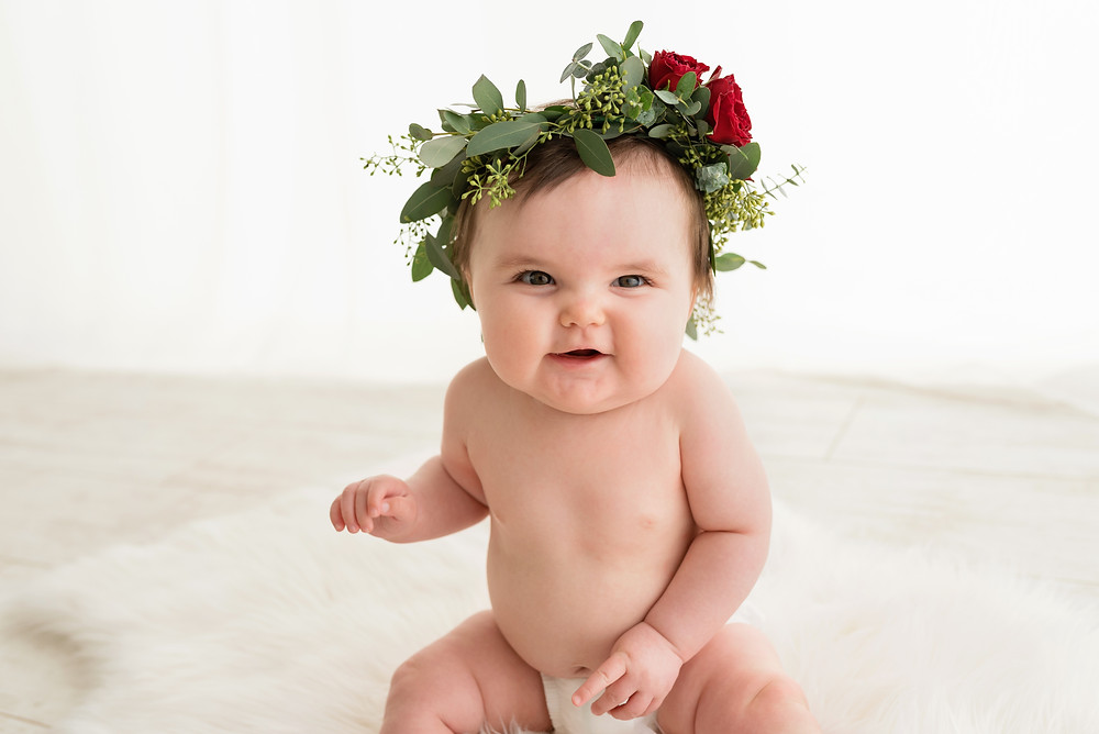 Flowers, Floral Crown, Baby, Girl, Southern Utah, Cedar City
