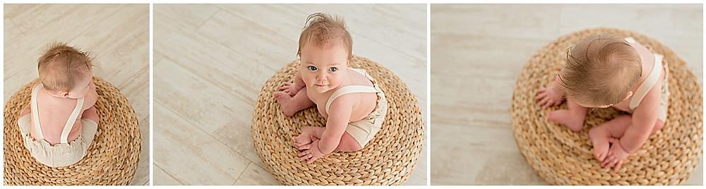 6-month session, milestone, studio, Southern utah, Photographer, Kids, Babies, Organic