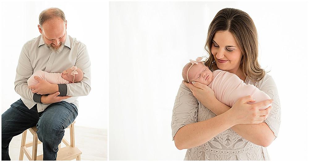 Newborn, Photographer, Southern Utah Studio photographer, White Studio, Mayor