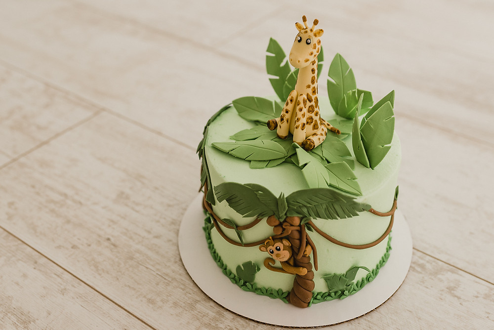 Cake, Jungle, Milestone, One Year old, baby, custom cake