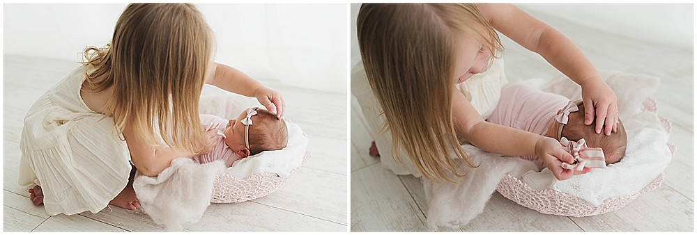 Simply Cute By Kellie, Hair bow, Girls, Sister, Newborn, Baby, Studio, natural Light, Organic, Photographer, Cedar City, Utah