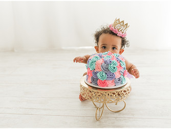 One-Year Cake Smash | Southern Utah Studio Photographer