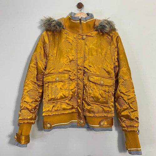 Jaqueta Dourada Bomber - Brechó