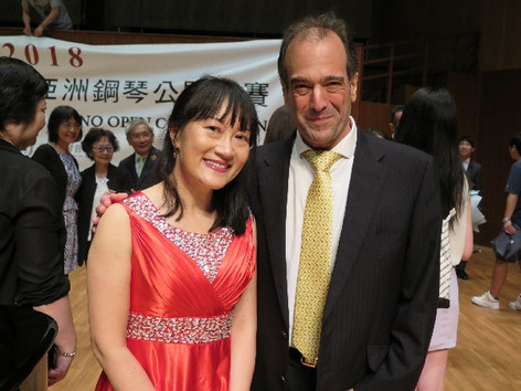 With pianist Mei Loc Wu