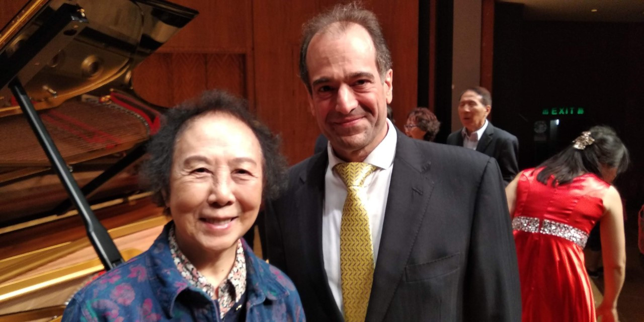 With Zhu Yafen after concert
