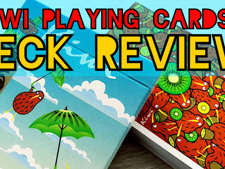 Professional Magician Reviews This Colorful Kiwi Card Deck and Suede Close-up Pad - 10/10!
