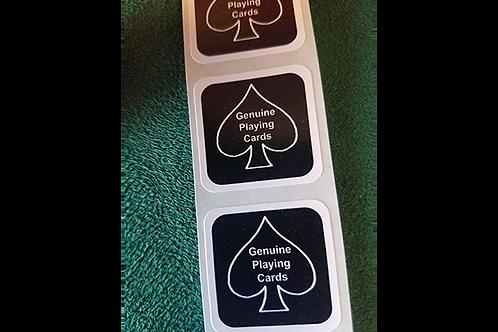 BLACK New Deck Stickers (100 SEALS)