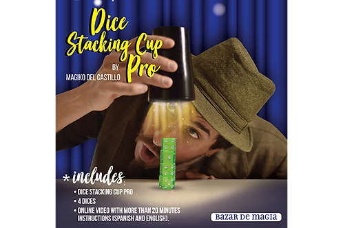 Dice Stacking Cup Pro (Gimmicks and Online Instructions) by Bazar de Magia