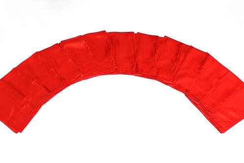 Silks 15 inch 12 Pack (Red) Magic by Gosh - Trick