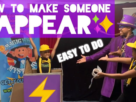 Episode 5 - How to make someone APPEAR! Easy stage magic on a budget