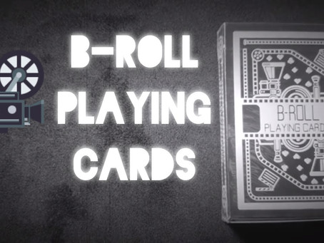 B-roll Playing Card Deck Review - (Filmmaking Cards) - With Ian