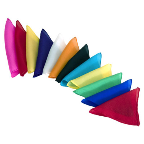 Silks 6 inch 12 Pack (Assorted) Magic by Gosh