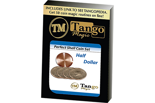 Perfect Shell Coin Set Half Dollar (Shell and 4 Coins D0201) by Tango Magic