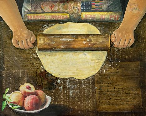 """Making Pie"" -Print"