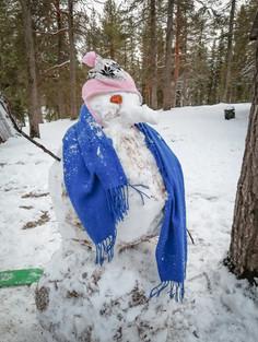 Talven ensimmäinen lumiukko (10/2020)